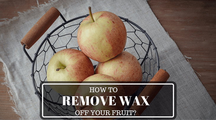 remove wax off fruit