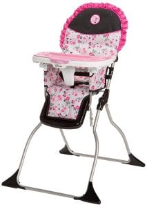 Disney Baby Minnie Mouse Simple Fold Plus High Chair with 3-Position Tray