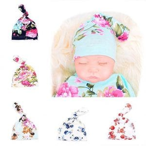 Glabloomer Newborn Baby Adjustable Knot Hat Knit Hat Cap