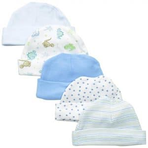 Spasilk Baby-Boys Newborn 5 Pack Cotton Hats