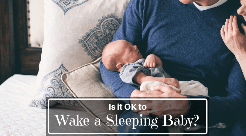 should you wake a sleeping baby
